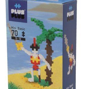 Разноцветный конструктор Plus Plus для создания 3D-моделей «Пират» (70 деталей, арт. 3752)